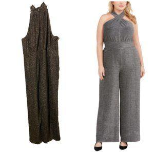 NWT Michael Kors Plus Knit Metallic Jumpsuit